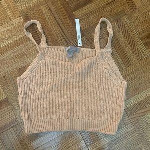 Crop top sweater material